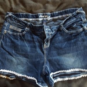 Womens jean shorts size18